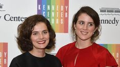 Caroline Kennedy Schlossberg's daughters, Rose and Tatiana.  Rose looks almost exactly like her beautiful grandmother, Jackie.