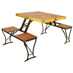 Traveling Table | From a unique collection of antique and modern tables at https://www.1stdibs.com/furniture/tables/tables/