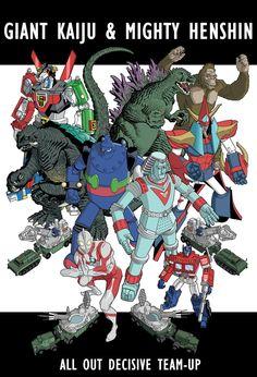 Godzilla Gamera Ultraman etc.. by dusty-abell on deviantART