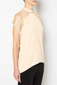 Split Sleeve Lace Top