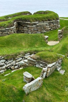 Portion of Skara Brae, a 5000 year old Neolithic village on Mainland, Orkney Islands Scotland England Ireland, England And Scotland, Shetland, Orkney Islands, Ancient Ruins, Archaeological Site, Scotland Travel, British Isles, Places To See