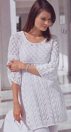 Туника в стиле Миссони | Вязание для женщин | Вязание спицами и крючком. Схемы вязания.