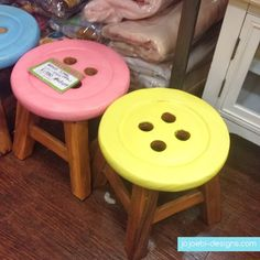 Love these little stools for my sewing room. Would be great for my helper kids in there.