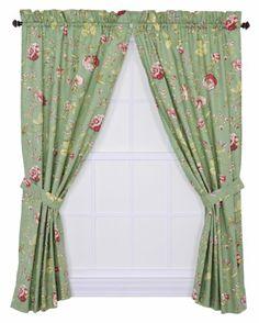 Ellis Curtain Coventry Medium Scale Floral 68 by 72-Inch Tailored Panel Pair Curtains with Tiebacks, Green Ellis Curtain,http://www.amazon.com/dp/B007B7HEAY/ref=cm_sw_r_pi_dp_xCtGtb1G8DJWX0E0