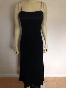 Sale Rimini by Shaw Black velvet long dress beaded  padded top 8
