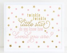 Twinkle Twinkle Little Star Baby Shower Decorations  Blush