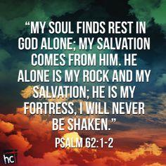 Bible verse ~ Psalm 62:1-2