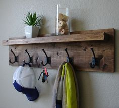 Corvallis Rustic Modern 5 Hanger Hook Coat Rack with by KeoDecor, $115.00