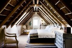 Love this!   Thanks Tricia.   Ceiling, beams, light      Who wouldn't like to snuggle up here?