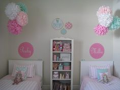 ***Arrangement- w/ Name Decal***~ OMGOODNESS! This is the cutest room ever, must do when the girls get out of their toddler beds.