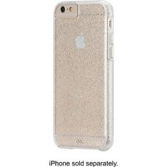 Case-Mate - The Glam Collection Sheer Glam Case for Apple® iPhone® 6 - Clear/Champagne - Larger Front