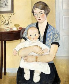 Einar Jolin (1890-1976 Swedish)Mother With Child