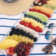 Poolside fruit platter of my dreams ...starfruit,  dragonfruit, papaya, mango, and of course sea urchin (I mean hairy rambutan ☺️ have you guys tried?) at @colonnadeboston #poolday #summertime #happysunday #freshfruit #igersboston #pooltime