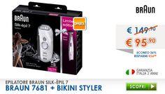 Scoprilo in Offerta qui --> http://www.freeshop.it/Epilatore-Ricaricabile-Braun-7681-bikini-Styler.html