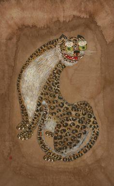 Folk art works on Lee Joungjoo Tiger Rug, Dream Drawing, Tiger Painting, Korean Painting, Korean Art, Ancient Art, Japanese Art, Folk Art, Fantasy Art