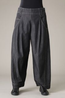 OSKA YaMiLa WaSH S S2012 BLaCK DeNiM WiDe LeG LaGeNLooK PaNTS JeaNS IV