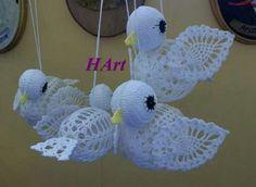 Image gallery – Page 530861874802211608 – Artofit Crochet Angels, Crochet Birds, Crochet Motifs, Easter Crochet, Thread Crochet, Crochet Doilies, Crochet Stitches, Free Crochet, Crochet Christmas Ornaments