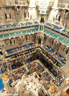 250,000 brick Lego castle takes up 540 sq ft room!