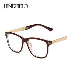 HINDFIELD Unisex Square Spectacles Fashion Brand Optical Glasses Frame Clear Lens Glasses Vintage eye glasses frames for men #Affiliate