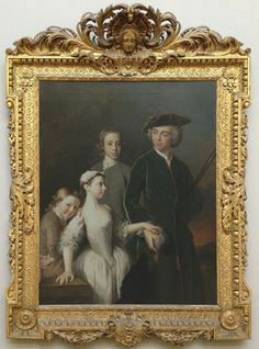 llan Ramsay, Thomas, 2nd Baron Mansel of Margam, with his half-brothers and -sister, 1742, Tate; Photo: Fran Pickering   One of the most striking frames in the collection of Tate Britain is this, on Ramsay's group portrait of Thomas Mansel and his half-siblings. The mansion on the Margam estate in Glamorgan was demolished in 1787, amputating the portrait from its interior, but as a singular statement of the importance and beauty of the 'Kent' frame, it can hardly be beaten.