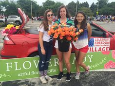 The Flower Lady participates in the Village of Wauwatosa's Independence Day parade.