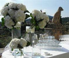 Buffet table Decoration. La Rosa Canina FIRENZE www.larosacaninafioristi.it