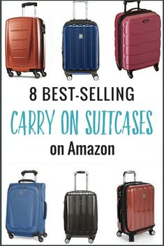 Looking for carry on luggage? Here are 8 of the best selling and most popular carry on suitcases on [. Best Carry On Luggage, Travel Luggage, Best Carry On Bag, Kids Luggage, Hand Luggage, Travel Items, Luggage Bags, Packing List For Travel, Packing Tips