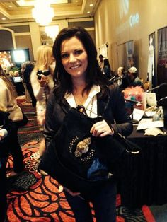Martina McBride at the ACM awards with #allielor collection handbag www.allielorcollections.com