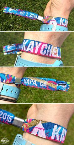 Festival Wedding Wristbands x 50 pcs by MartyMcColgan on Etsy