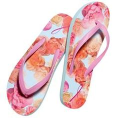 Breast Cancer Floral-Print Flip-Flop    http://www.youravon.com/srudek