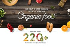Organic Food Mockup & Hero Images Scene Generator by CreativeForm on Envato Elements