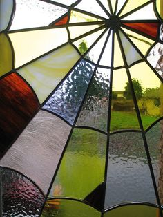 Items similar to Stained Glass Panel - Spider Web in Yellow - Suncatcher Window on Etsy