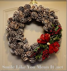 Pine cone Wreath with embellishments