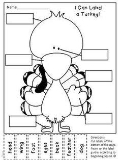 Writer& Workshop Seasonal Labeling Activity--Label a Turkey Free Thanksgiving Printables, Thanksgiving Preschool, Thanksgiving Games, November Thanksgiving, Thanksgiving Holiday, Christmas Holidays, Free Printables, Classroom Fun, Classroom Activities