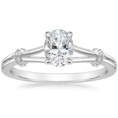 Oval Cut Odelia Diamond Engagement Ring - 18K White Gold
