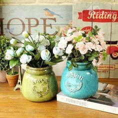 Classic Ceramic Crown Pattern Home Decorative Flower Vase