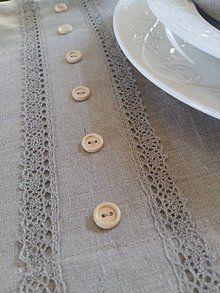 Úžitkový textil - Ľanový obrus Linen Love - 7971956_