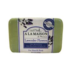 $5.39- A La Maison Bar Soap Lavender Flowers - 8.8 oz, The traditional recipe dates back to 1828 in France when Marseille soap masters developed the famous French milled process, resulting into a rich, smooth, lathering, softer bar soap.