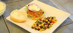 Salmon Burgers With Lemon Aioli and Southwestern Black Bean & Corn Salsa ($10 or Less Meal)   719Woman.com  