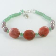 Heal Your Heart with Pink Rhodonite Lepidolite and Aventurine, $37.00 https://www.facebook.com/pages/Healing-Crystal-Jewelry/300033266677889?sk=app_251458316228