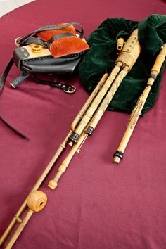 Uilleann pipes - My husband's Irish elbow pipes. He is one of the best pipers on the west coast.
