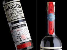Stranger and Stranger's Hanson of Sonoma vodka packaging, via www.mr-cup.com