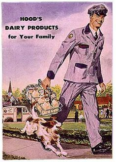 Who remembers the milk man? those must have been the good ol' days