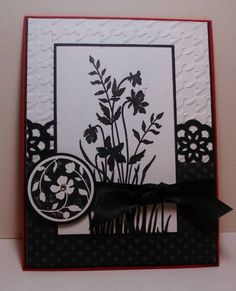 lovely black and white card...Just Believe...like the reverse color in the medallion... Stampin' Up ...