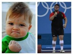 The 21 Best Doppelgangers Of The 2012 London Olympics Weightlifter Matthias Steiner and Success Kid