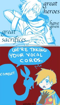 Golden Sun owww poor ISAAC HE IS LIKE MY FAVORITE character. I guess its much easier with no voices *sigh*