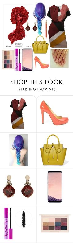"""Untitled #500"" by yasm-ina ❤ liked on Polyvore featuring Fendi, Christian Louboutin, Michael Kors, Accessorize, Samsung, tarte and Sisley"