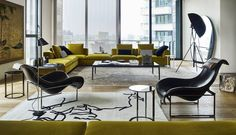 Fauteuil Mart -B&B Italia - Design de Antonio Citterio Brown Furniture, Sofa Furniture, Living Room Furniture, Furniture Design, Kelly Wearstler, Club Sofa, Mid-century Modern, Modern Living, Modern Decor