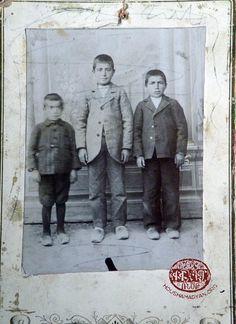 Sivas/Sepasdia, 1898. (From left): Nishan, Hrant and Mihran Toumajan brothers