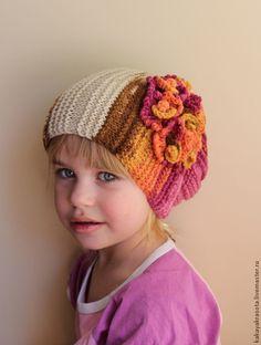 """Одежда для девочек, ручной работы. Ярмарка Мастеров - ручная работа """"Весенние переливы"""" шапочка вязаная для девочки. Handmade."""